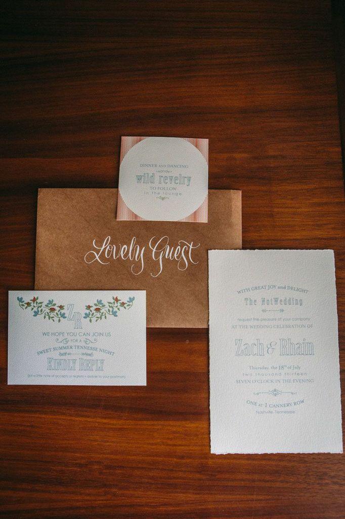 floral wedding paper suite