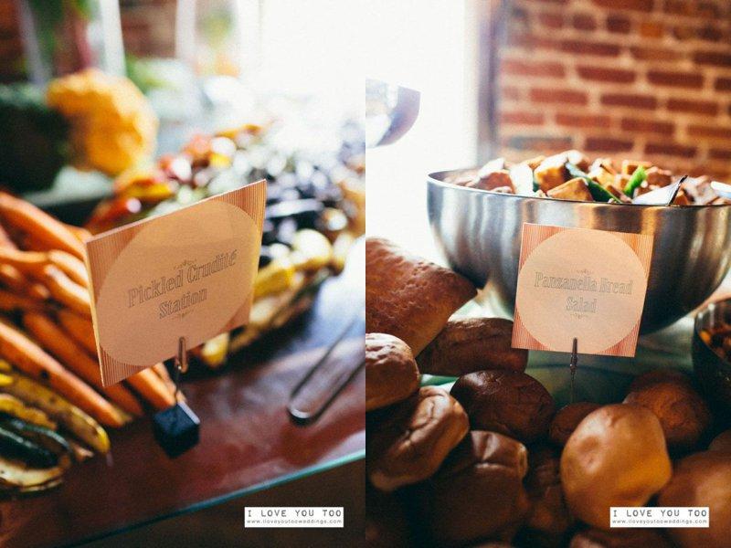 wedding food menu cards