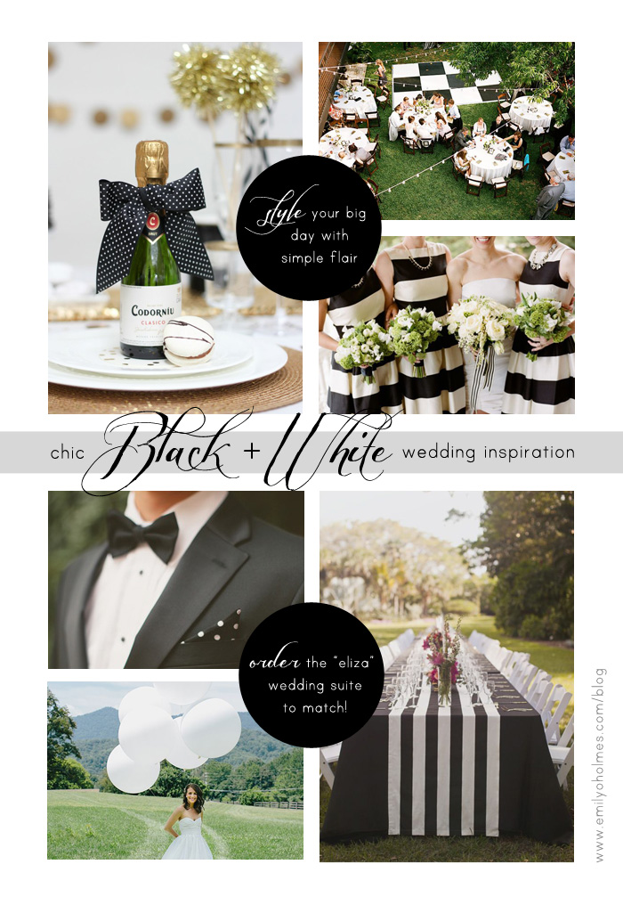 Black and White Wedding Invitations + Inspiration |